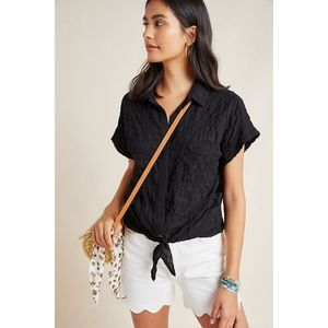 Anthropologie Cloth & Stone Liya Tie Front Blouse